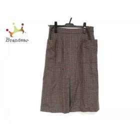 ダーマコレクション DAMAcollection スカート レディース 美品 グレー×ブラウン×黒 チェック柄   スペシャル特価 20190601
