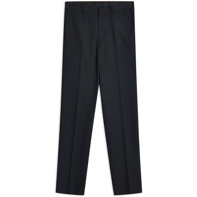 《期間限定 セール開催中》TOPMAN メンズ パンツ ダークブルー 28 ポリエステル 66% / レーヨン 34% Navy Textured Skinny Fit Suit Trousers