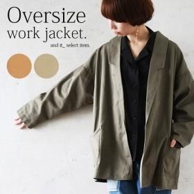 テーラードジャケット オーバーサイズ ミリタリー コート 羽織り ライトアウター レディース