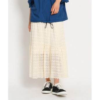 OZOC / オゾック [洗える]クロシェティアードフレアスカート