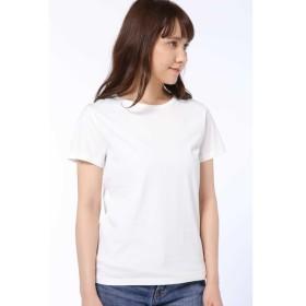 【ヒューマンウーマン/HUMAN WOMAN】 50/2新きょう綿 半袖Tシャツ