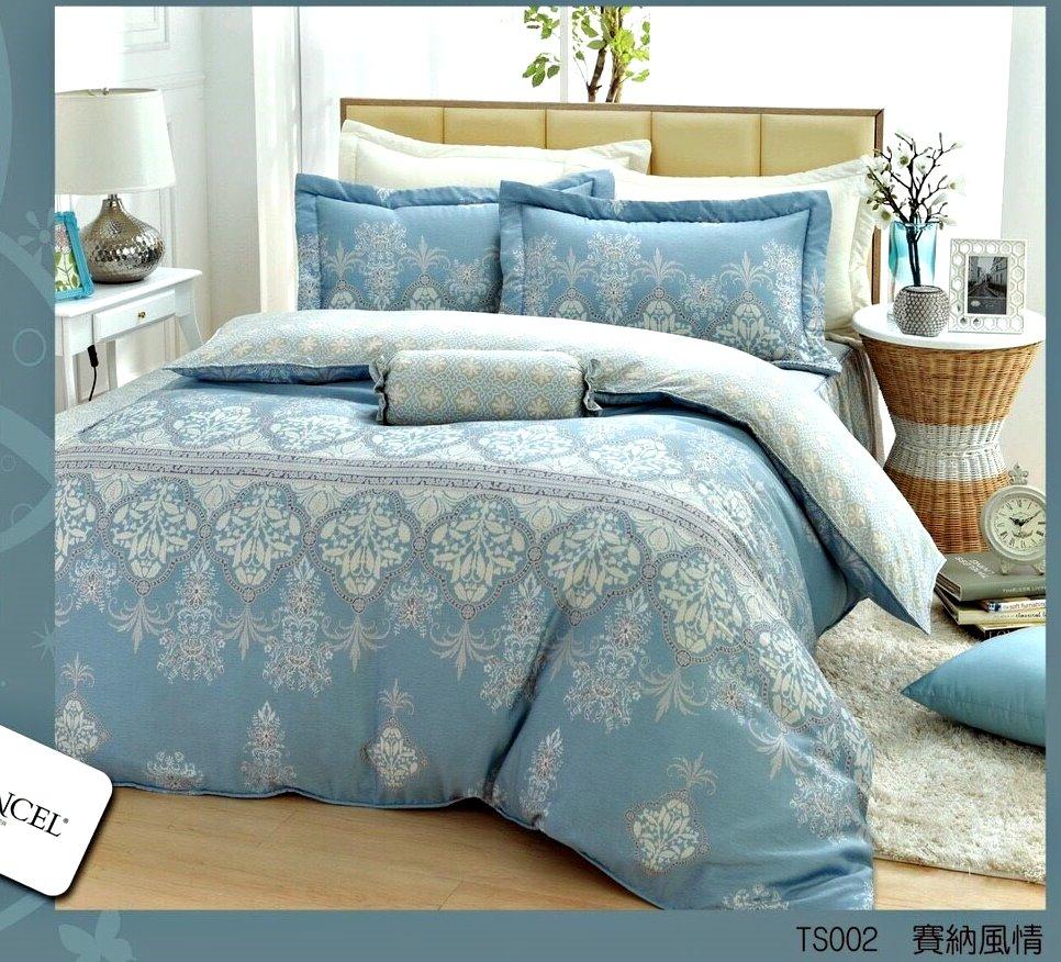 【特惠純天然】波希米亞7件式天絲鋪棉床罩組