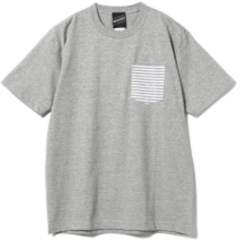 【SPECIAL PRICE】BEAMS T / Border Pocket Tee メンズ Tシャツ GREY XL