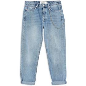 《期間限定 セール開催中》TOPMAN メンズ ジーンズ ブルー 30W-32L コットン 100% Light Wash Original Chain Jeans
