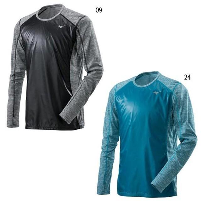 2831c9371497ff ミズノ メンズ Tシャツ 長袖 ジョギング マラソン ランニング ウェア トップス J2MC8510