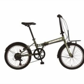 折りたたみ自転車 ハマー HUMMER 自転車 20インチ 外装7段変速ギア FDB207 TANK グリーン 軽量 コンパクト