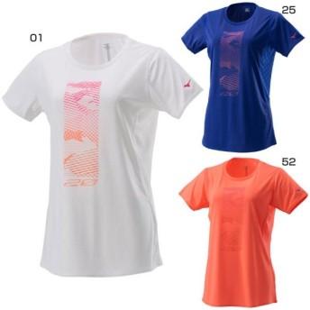 ミズノ レディース ソーラーカット ランニングTシャツ ジョギング マラソン ランニング ウェア 半袖 トップス J2MA7212