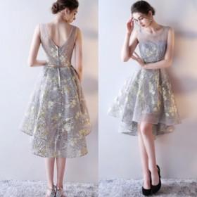 85951d835bea2 ドレス パーティドレス シースルー 刺繍 エアリー ロング ミディ バック ...