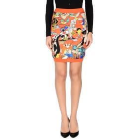 《期間限定 セール開催中》MOSCHINO レディース ひざ丈スカート オレンジ 40 バージンウール 70% / カシミヤ 30%