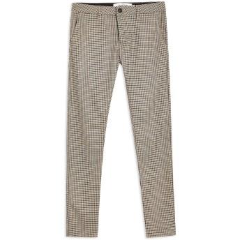 《9/20まで! 限定セール開催中》TOPMAN メンズ パンツ カーキ 28W-32L ポリエステル 65% / レーヨン 32% / ポリウレタン 3% Stone Puppytooth Trousers