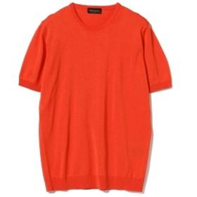 ROBERTO COLLINA / ショートスリーブ クルーネックニット メンズ ニット・セーター RED 46/M