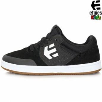 スケボー シューズ キッズ etnies エトニーズ Marana Kids ブラック/ガム/ホワイト スケートボード マラナ ブランド 子供 靴