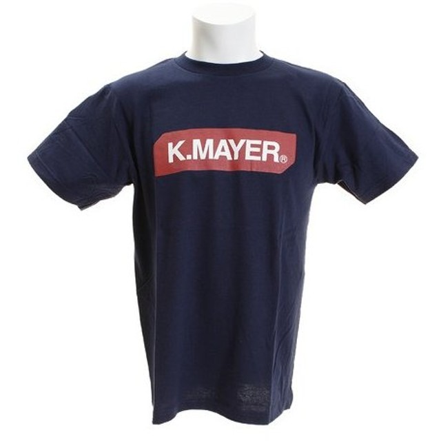 クリフメイヤー(KRIFF MAYER) ブランドロゴTシャツ BOX 1819905-3-NVY (Men's)