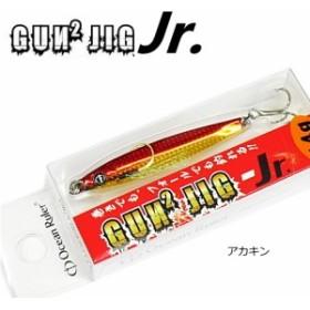 釣研 オーシャンルーラー ガンガンジグ Jr 14g アカキン / メタルジグ (メール便可)