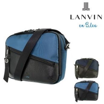 ランバンオンブルー ショルダーバッグ フェリックス メンズ 564121 日本製 LANVIN en Bleu 軽量 コンパクト ナイロン 牛革 本革 レザー