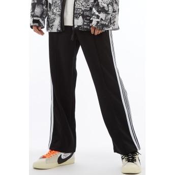 ジョガーパンツ - improves サイドライン ジャージ ワイドパンツ メンズ レディース ラインパンツ ダンス トラックパンツ バギーパンツ イージーパンツ ブラック黒 ストリート系 ストリートファッション スケーター メンズファッション インプローブス improves