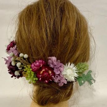 ドライフラワー髪飾り 卒業式髪飾り 成人式髪飾り 結婚式髪飾り