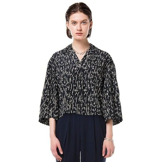 CLANE / サルビアフラワープリントシャツ