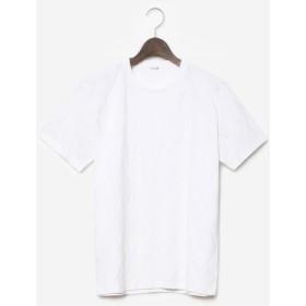【PLST】ダイヤジャカードクルーネック半袖Tシャツ Men