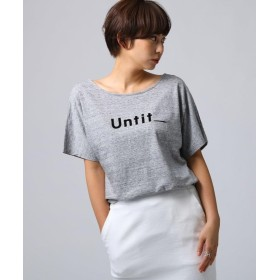 アンタイトル コットン天竺 ロゴTシャツ レディース グレー(012) 02(M) 【UNTITLED】