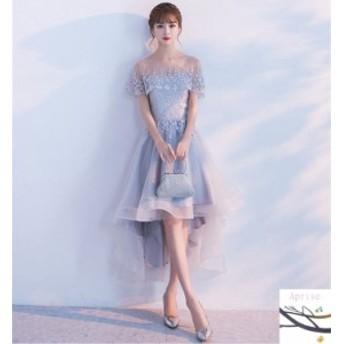 パーティードレス 結婚式 ドレス ウェディングドレス 卒業式 成人式 膝丈 ドレス Aライン 大人 二次会ドレス お呼ばれドレス パーティド