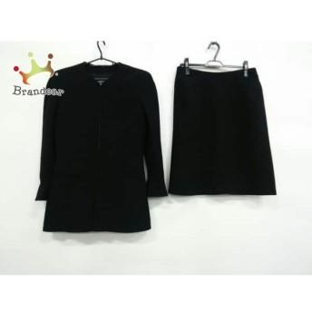 シャネル CHANEL スカートスーツ サイズ44 L レディース 黒 ジップアップ 値下げ 20190902