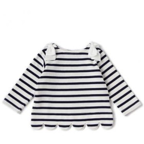 プティマイン/スカラップボーダーTシャツ