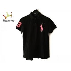 ポロラルフローレン 半袖ポロシャツ サイズL メンズ ビッグポニー 黒×ピンク CUSTOM FIT 新着 20190223