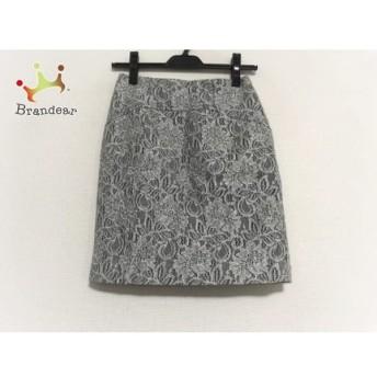 ジャスグリッティー JUSGLITTY スカート サイズ0 XS レディース 美品 グレー×白 スペシャル特価 20190522