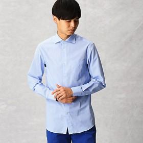 <COMME CA MEN > 【形態安定】ギンガムチェック ドレスシャツ(0708HL14) サックス 【三越・伊勢丹/公式】