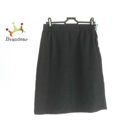 ジャスグリッティー JUSGLITTY スカート サイズ2 M レディース 美品 黒×白×ライトブルー    値下げ 20191015