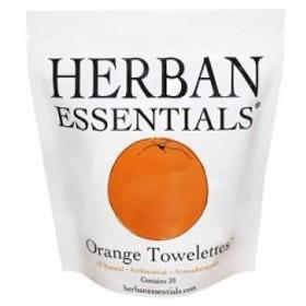 ハーバンエッセンシャルズ HERBAN ESSENTIALS アロマタオル オレンジ 20包 【odr】
