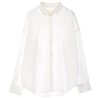 アースミュージックアンドエコロジー earth music&ecology iro iro コットン2wayシャツ (White)