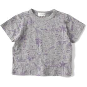 Tシャツ - petitmain 動物総柄プリントTシャツ