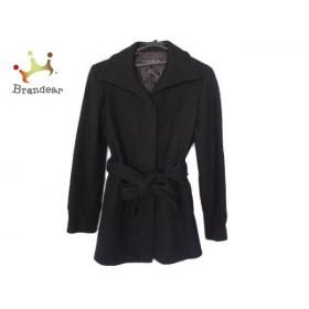 ミッシェルクラン MICHELKLEIN コート サイズ38 M レディース 美品 黒 ニット/ショート丈/冬物 新着 20190602