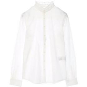 アースミュージックアンドエコロジー earth music&ecology シャキシャキシャツ(スタンドカラー) (White)