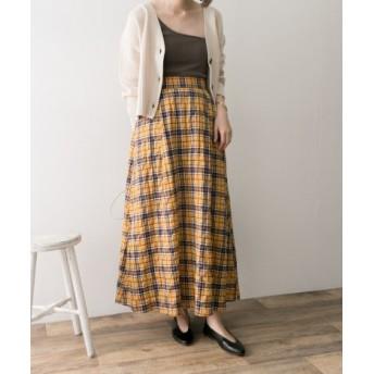 URBAN RESEARCH(アーバンリサーチ) スカート スカート チェックマキシスカート【送料無料】