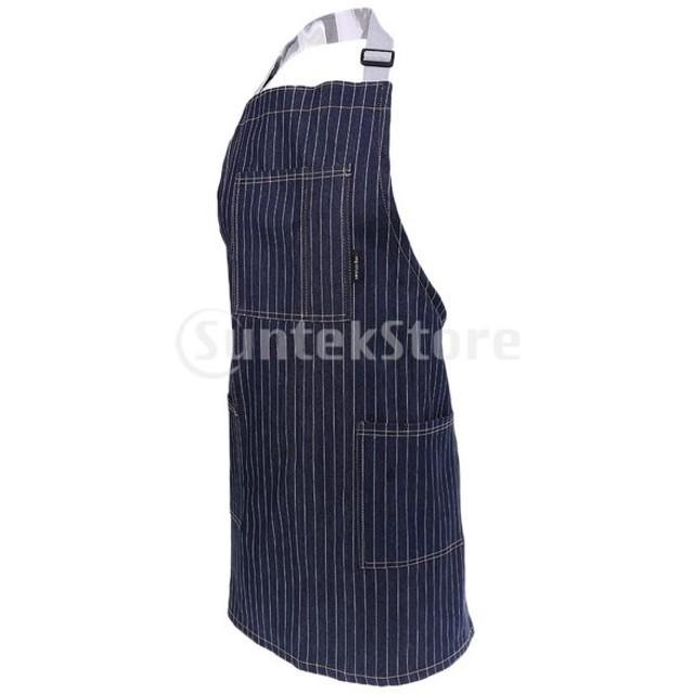 3ポケット調節可能なストラップメンズ女性ホーム料理キッチンエプロン