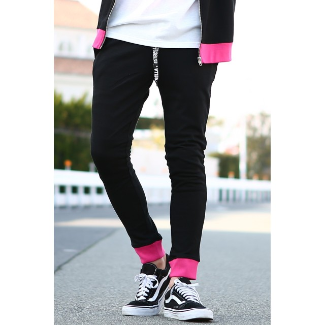 ジョガーパンツ - improves ネオンカラー スウェットパンツ メンズ レディース スリム スエットパンツ ジョガーパンツ ジャージ セットアップ 上下 可能 蛍光色イージーパンツ テーパード ブラック グレー 黒 ストリート系 サーフ系 カジュアル メンズファッション イ
