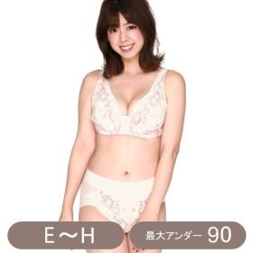 ブラジャー ショーツセット ワイヤー入り★脇高補正ブラセット 「アイボリー」