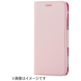 iPhone X用 手帳型 ソフトレザーカバー 薄型 女子向 磁石付 ピンク PM-A17XPLFUJPNL