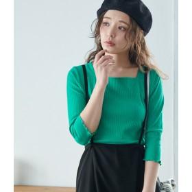 Tシャツ - ROPE' PICNIC 7分袖スクエアテレコトップス
