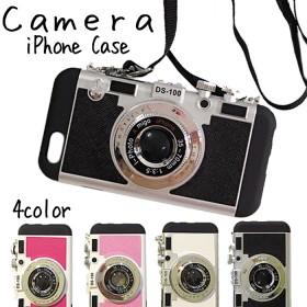 【送料無料】iPhoneX ケース カメラケース iPhone8 7Plus/8Plus 7/8 ケース カメラ スマホケース カメラ型 iPhone カメラ型 レトロ ストラップ付 【ネコポス配送