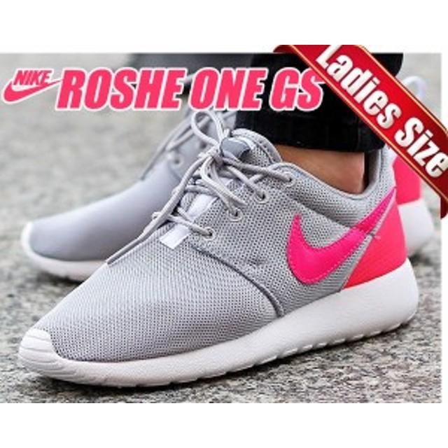 【送料無料 ナイキ スニーカー ローシワン レディースサイズ】NIKE ROSHE ONE GS w.gry/h.pink-c.gry-wht【ランニングシューズ】
