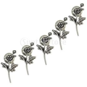 エレガントなバラの花の襟のタイのクリップバー5本のネクタイタイのピン