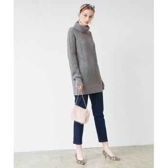 ニット・セーター - titivate タートルロングニット/ざっくりとルーズなデザインが可愛い/トップス/レディース/ニット/タートルネック/長袖/ゆったり/オーバーサイズ/シンプル/片畦編み