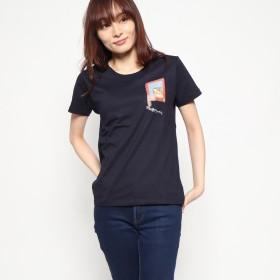 マンハッタナーズ Manhattaner's 半袖Tシャツ「格子のバロン」 (ネイビー)