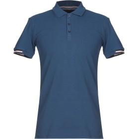 《期間限定セール開催中!》LES COPAINS メンズ ポロシャツ ブルー 48 コットン 100%