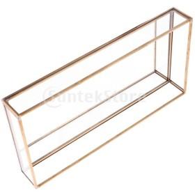 幾何学的なガラスの宝石箱卓上テラリウム植物甘いプランターボックス