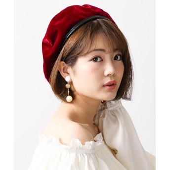 ベレー帽 - WEGO【WOMEN】 ベロアベレー BR17AU09-LG0079